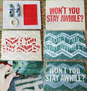 DIY Doormat and Bathmat Ideas 5