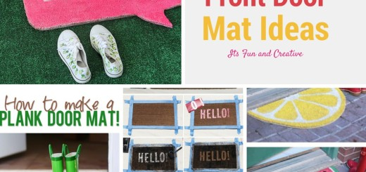 DIY Doormat and Bathmat Ideas handmade