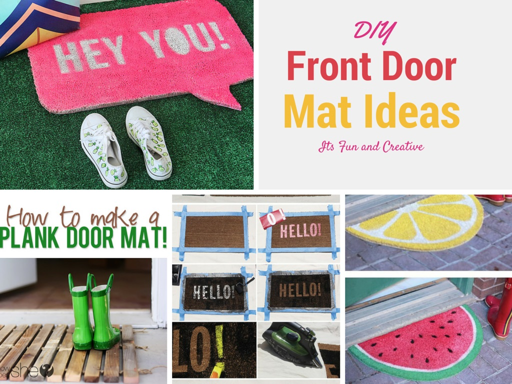 7 Money Saving DIY Doormat and Bathmat Ideas: Part 1