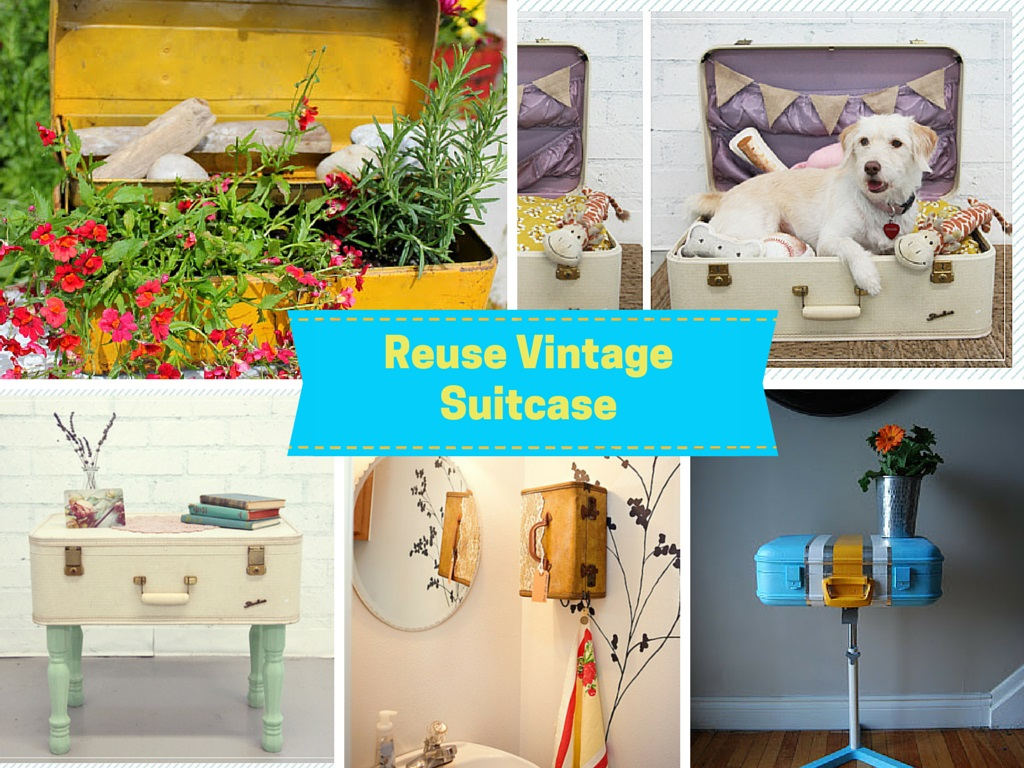 6 Inspirational Tutorials On How to Recycle a Vintage Suitcase: Part 1