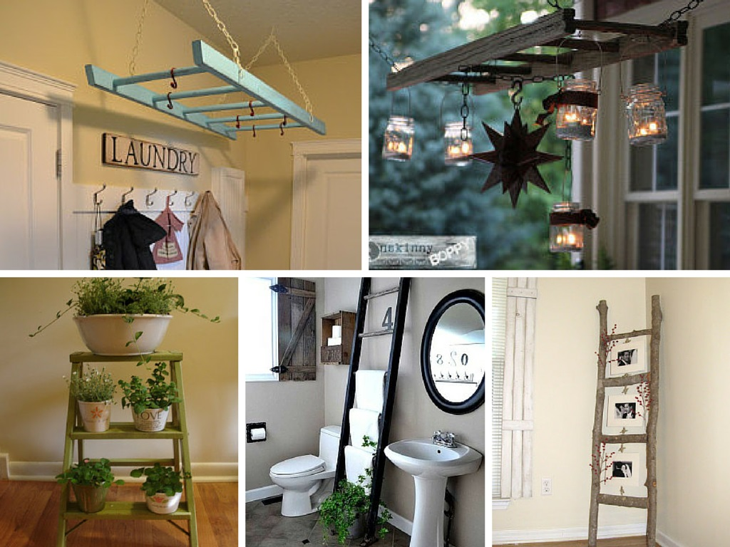 7 Fun DIY Ways to Repurpose and Reuse Vintage Ladders