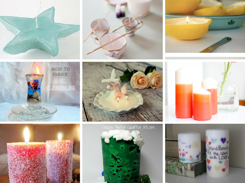 14 Creative DIY Homemade Candles Tutorials