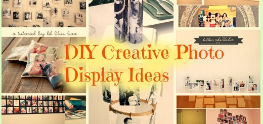 diy creative photo display ideas
