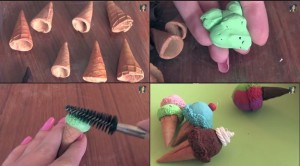 diy ice cream polymer clay charms
