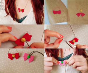 diy polymer clay necklace