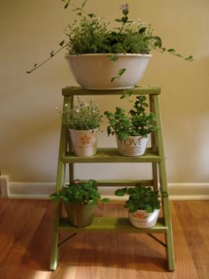 diy repurposed vintage ladder 6