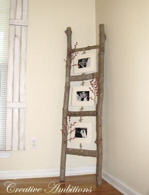 diy repurposed vintage ladder 7