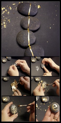 diy stone painting and art