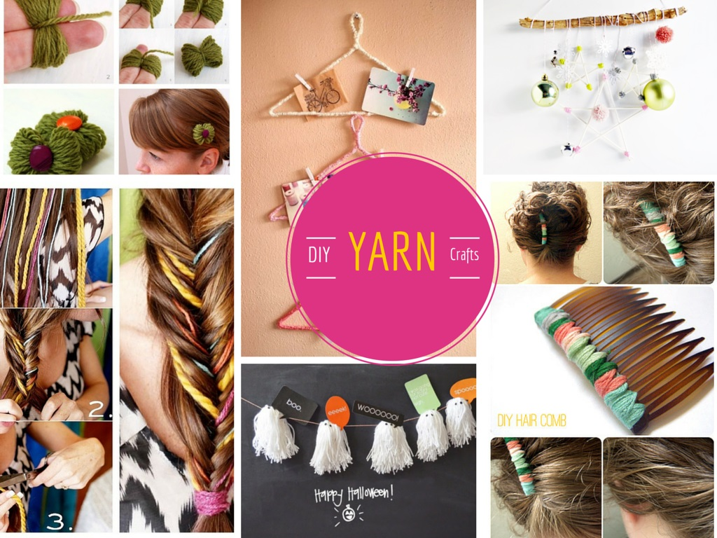12 Super Cool and Lovable DIY Yarn Crafts Projects: Part 1