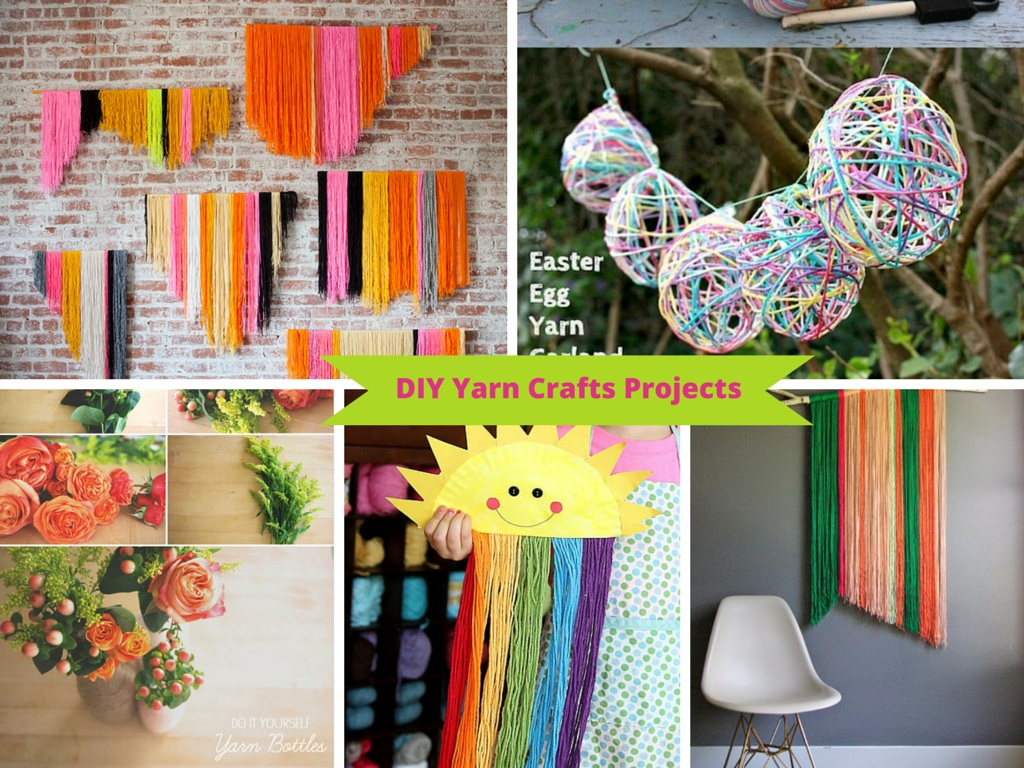 9 ways to make diy yarn crafts from your leftover yarn for Diy craft projects easy