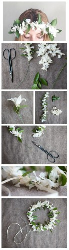 how to make a flower crown diy