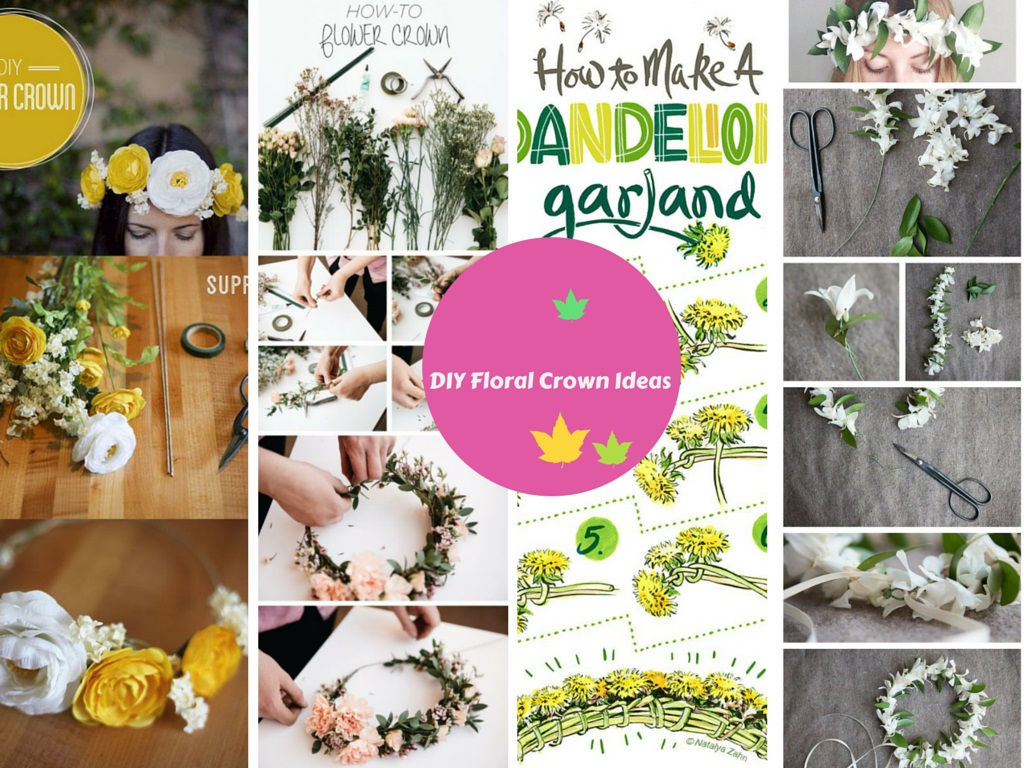 5 awesome diy ideas on how to make flower crown dhlflorist Choice Image