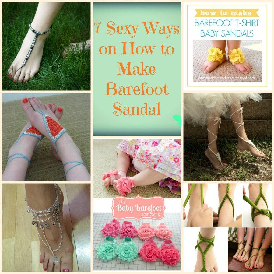 how to make barefoot sandal handmade