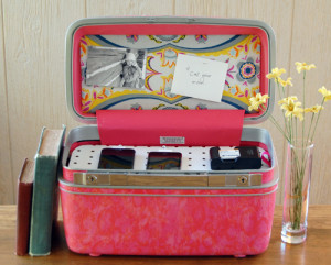 how to recycle a vintage suitcase diy