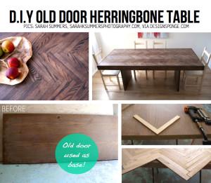 reuse old wooden door diy 2