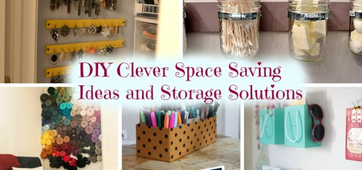 DIY Clever Space Saving Ideas and Storage Solutions