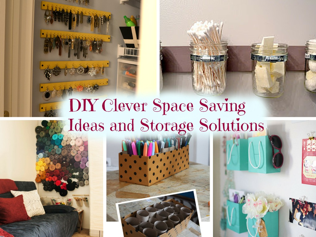 10 DIY Clever Space Saving Ideas