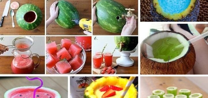 diy fresh fruit juice and receipes