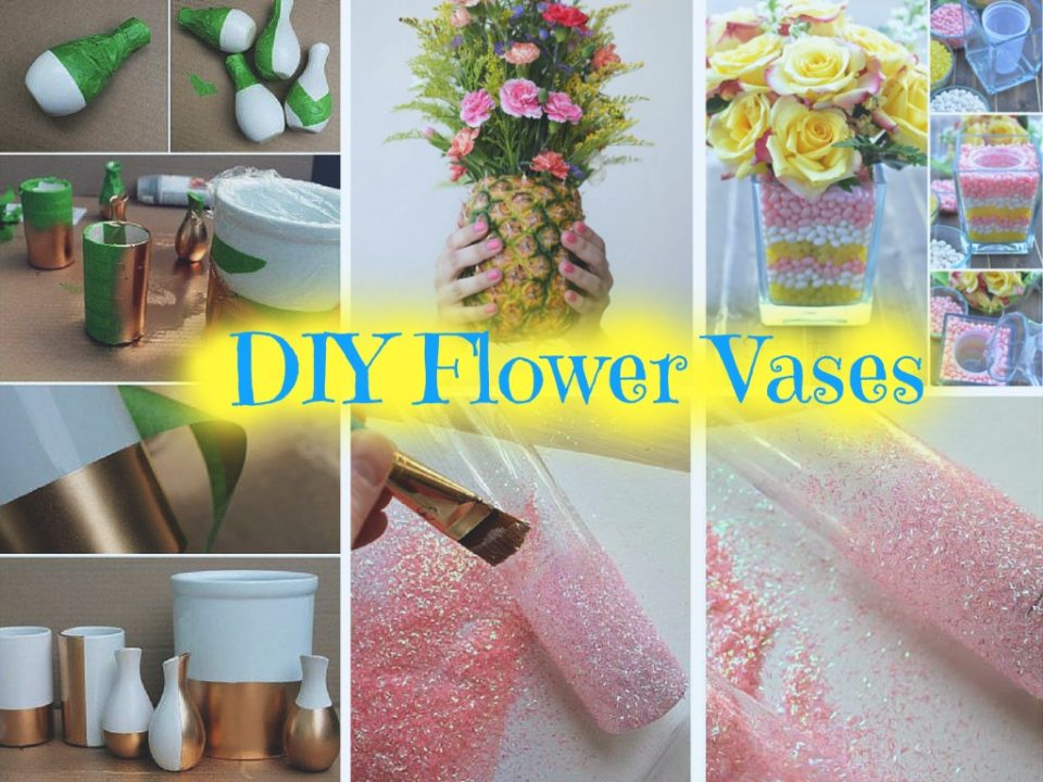 6 beautiful diy vases to decorate your home part 1 for Homemade home decoration items