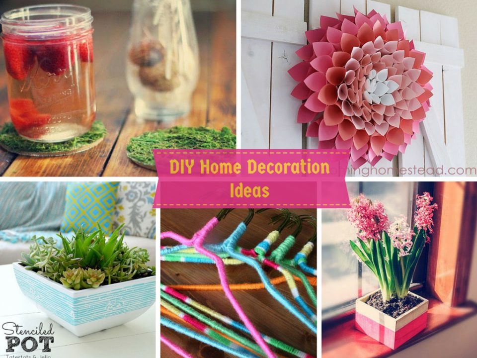 6 diy home decoration ideas in your budget its easy for Handmade things for home