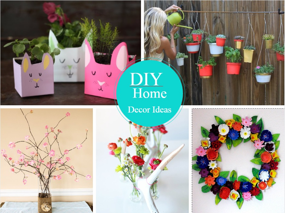 12 very easy and cheap diy home decor ideas for Handmade home decorations ideas