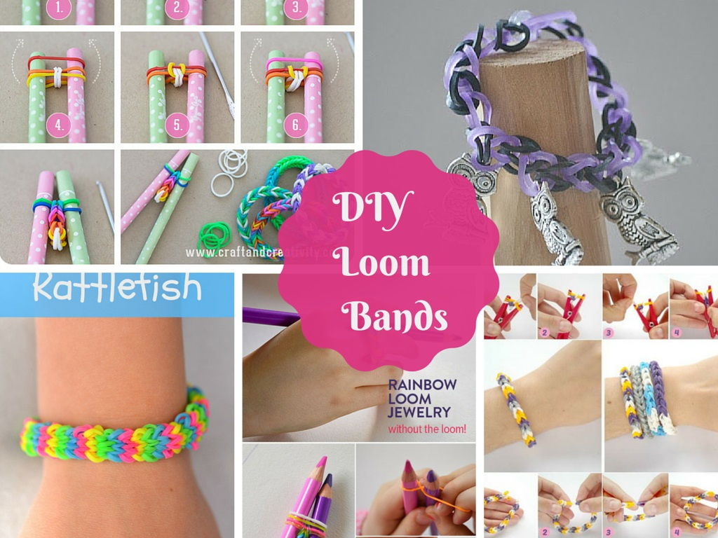 7 Great DIY Tutorials On How to Make Loom Bands: Part 1