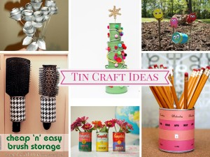9 Very Cheap and Interesting Tin Can Recycled Crafts: Part 3