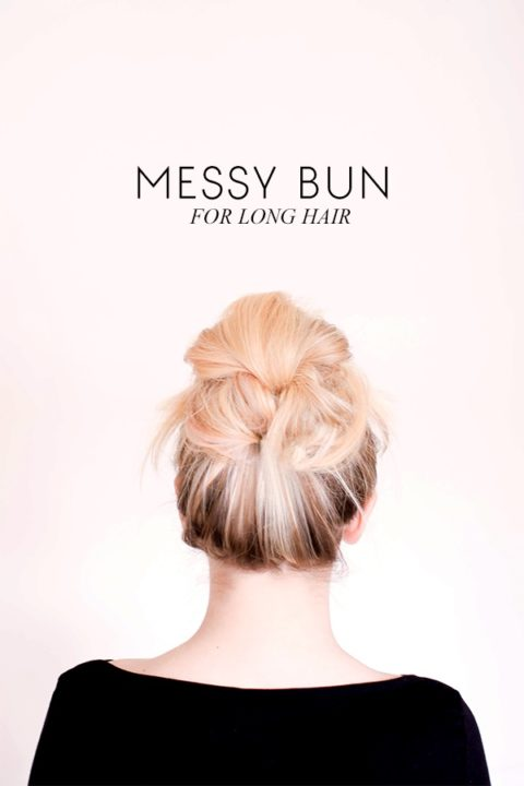 do it yourself messy bun tutorial
