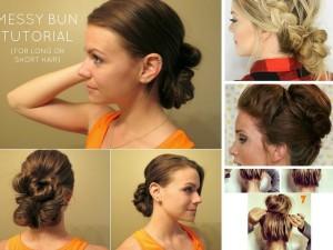 11 DIY Messy Bun Tutorial For Mediun to Long Hair: Part 1