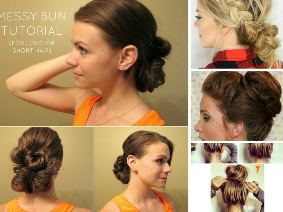 messy buns for long hair buns tutorials