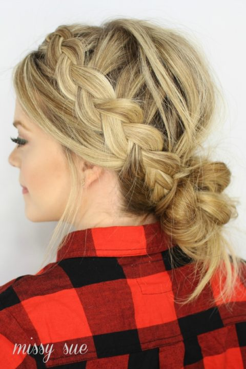 messy buns for long hair buns