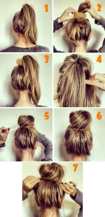 messy buns for long hair buns10