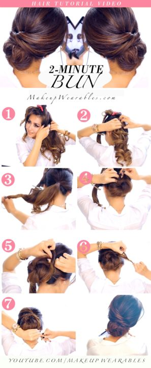 messy buns for long hair buns11
