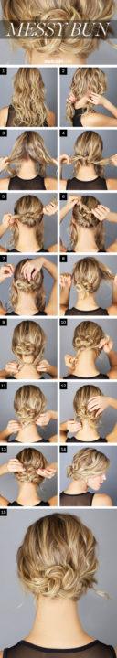 messy buns for long hair buns12