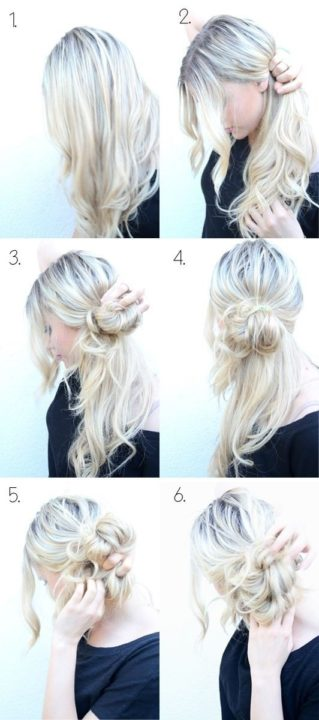 messy buns for long hair buns5