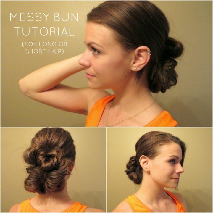 messy buns for long hair buns6