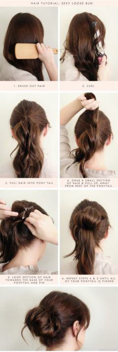 messy buns for long hair buns9