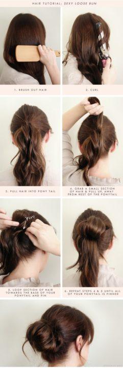 messy buns for long hair buns9