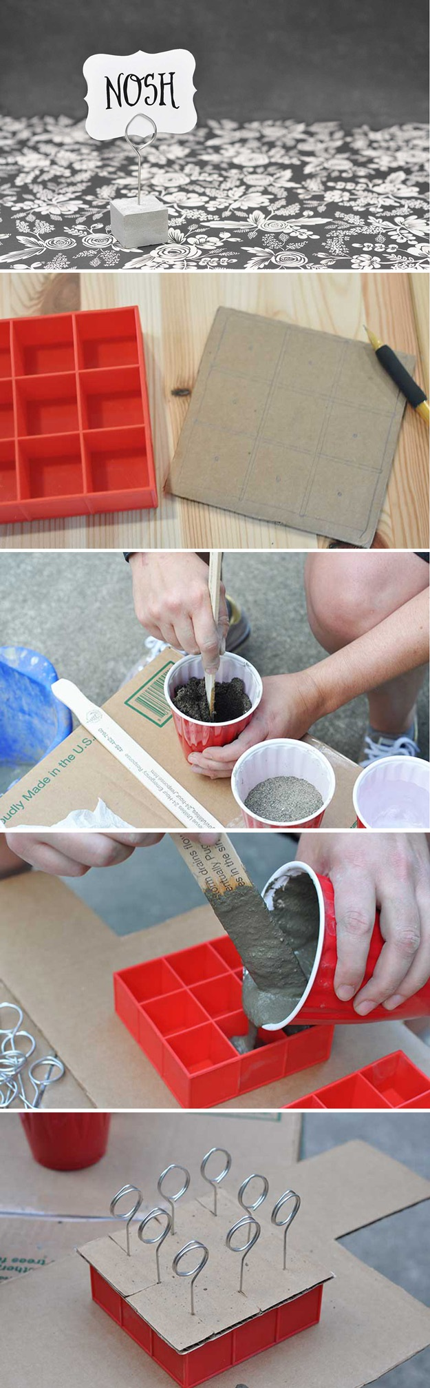 7 fun diy projects to learn various other uses of ice tray for Small concrete projects