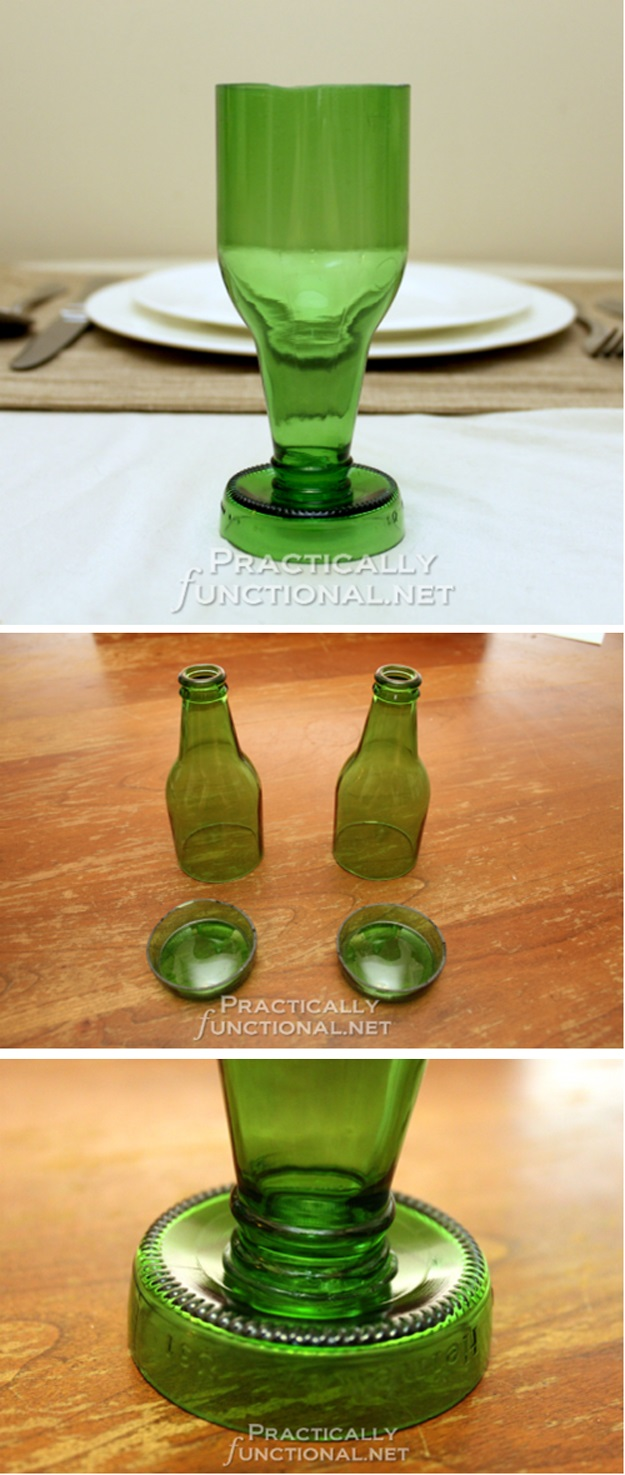 How to Make Beer Bottle Goblets pics