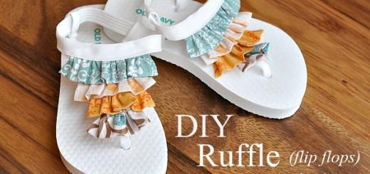 Diy Ruffle (flip flops) Sandals