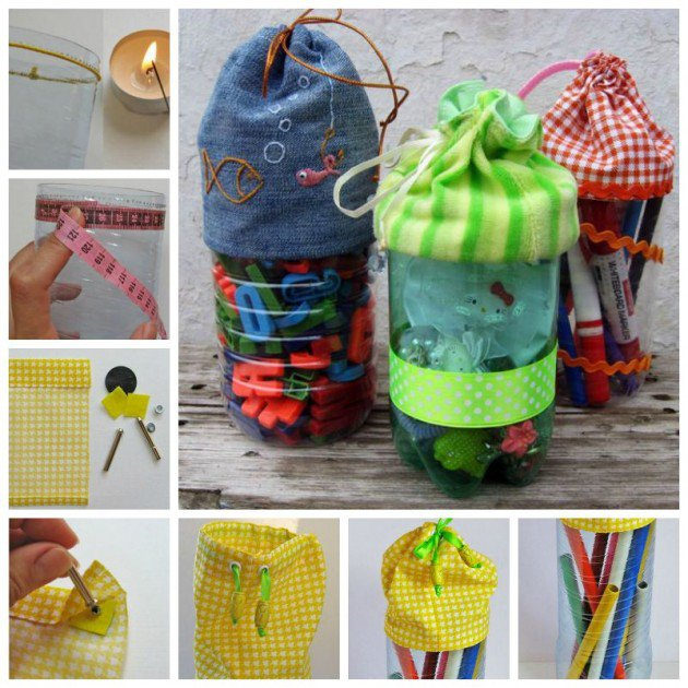 9 useful things made entirly by reusing plastic bottles for Diy from recycled materials