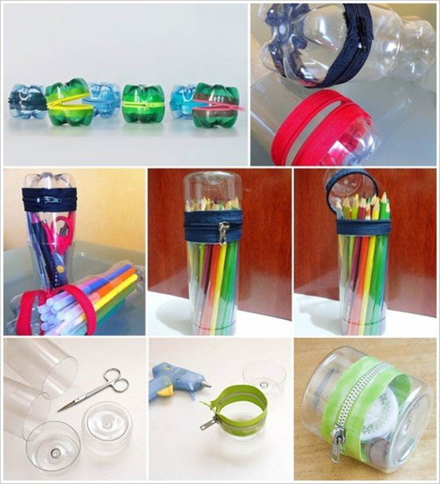 9 useful things made entirly by reusing plastic bottles for Craft using waste bottles