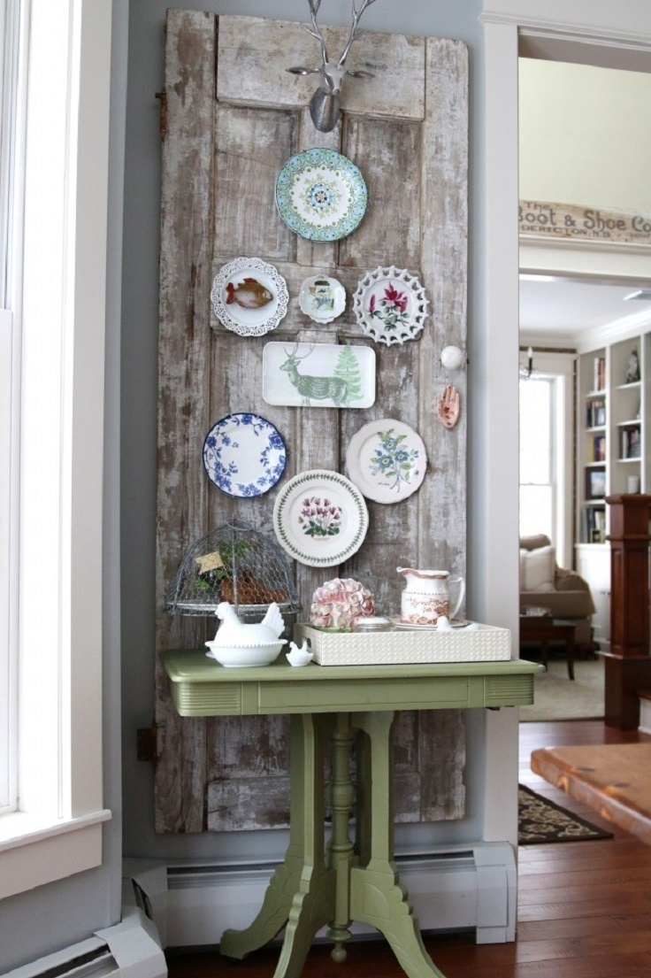 Delightful Vintage Decorating Ideas For Home Part - 3: Cover A Wall In Vintage Plates. Diy Home Decor Ideas