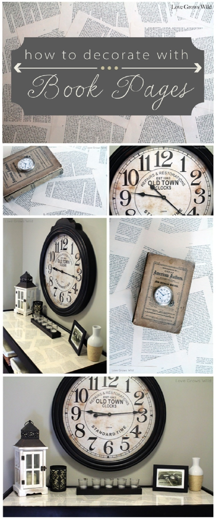 18 best diy home decor ideas for vintage stuff lovers for Antique books for decoration