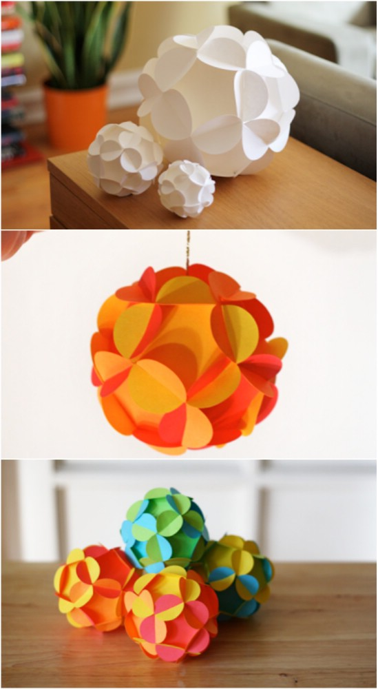 Ideas on how to make christmas ornaments from paper