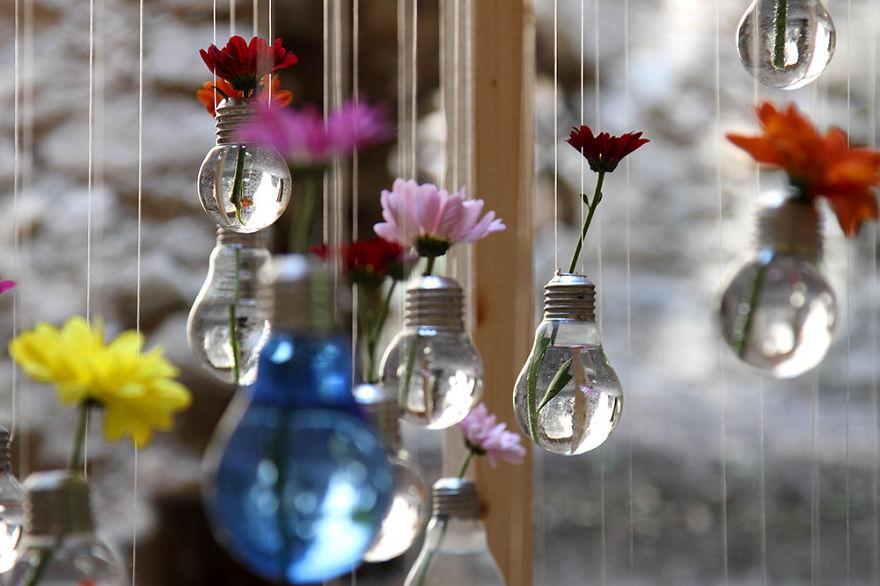 recycle light bulbs diy craft 1