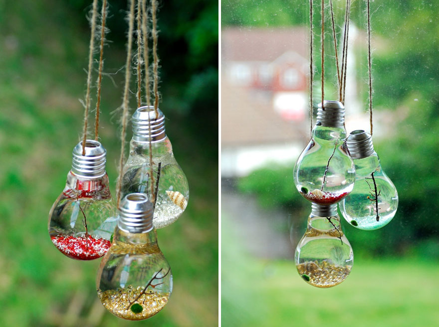 21 Brilliant Ideas On How To Recycle Light Bulbs