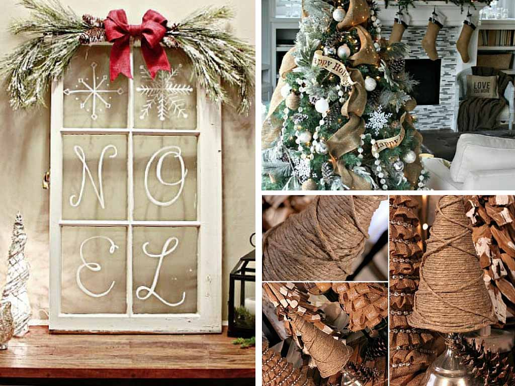 21 easy diy christmas decoration ideas rustic style - Diy Christmas Decorations Ideas