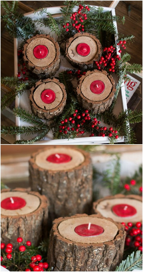 21 Easy DIY Christmas Decoration Ideas - Rustic Style